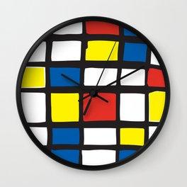 Mondrian Variation 1 Wall Clock