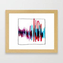 Welcome Home Soundwaves Framed Art Print