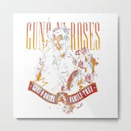 Guns And Rose Metal Print