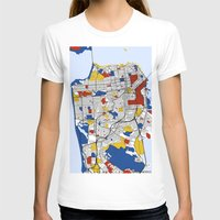 san francisco T-shirts featuring San Francisco by Mondrian Maps