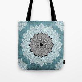 Dream Weaver Bohemian Mandala Black Blue White Tote Bag