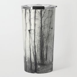 White Lights in the Forest Travel Mug