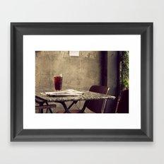 Table for One Framed Art Print