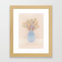 Dry flowers in my living room Framed Art Print