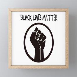 Black Lives Matter  Framed Mini Art Print