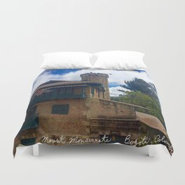 Mount Monserrate at Christmastime Maybe, Bogota, Colombia Duvet Cover