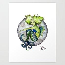 Moon Mermaid Art Print