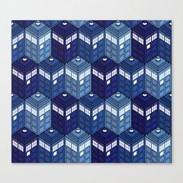 Infinite Phone Boxes Canvas Print
