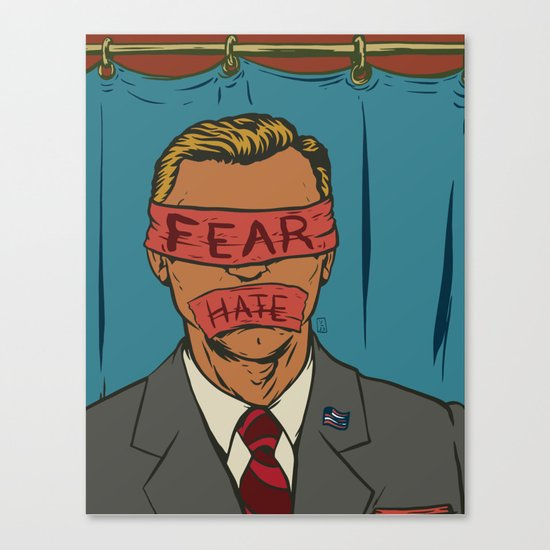 The Fear Hate Factor Canvas Print