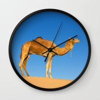 camel Wall Clocks featuring Camel by Chantal Seigneurgens