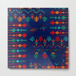 -A17- Anthropologie Moroccan Blue Artwork. Metal Print