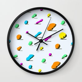 colorful stone pattern on light background. Wall Clock