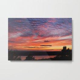 Photograph Of Sunset Eagle Lake Acadia National Park Metal Print
