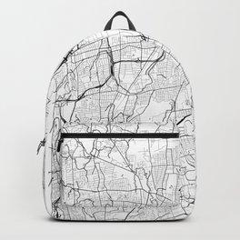 Hartford Map White Backpack