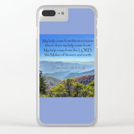 Psalms 121:1-2 Clear iPhone Case