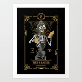 The Reader X Tarot Card Art Print