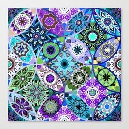 Moroccan bazaar | blue Canvas Print