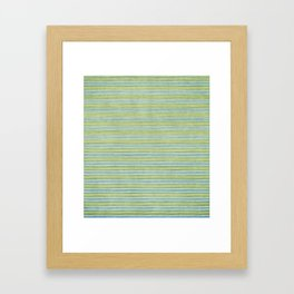 Green Lines - Acessórios e Moda Cor Sólida Framed Art Print
