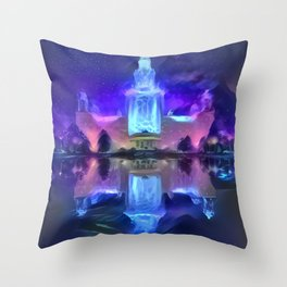 Galactic Reflection Moscow State University Throw Pillow