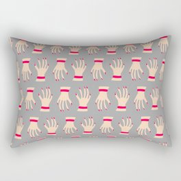 Wave Hello Grey Rectangular Pillow