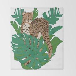 Cheetah Jungle Throw Blanket