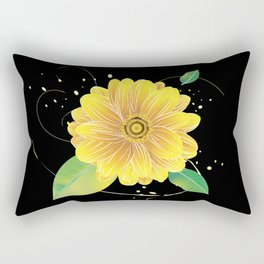 Helianthus Midnight - The Color of Vitality, Intelligence, and Happiness Rectangular Pillow