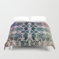 lace Duvet Covers featuring Lace by Truly Juel