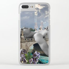 Walking on edge Clear iPhone Case