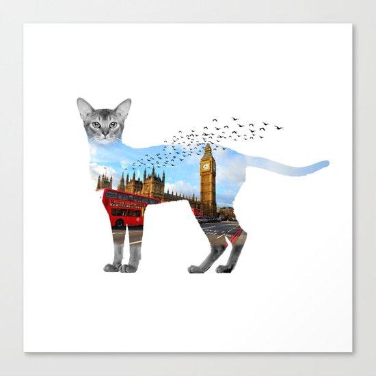 London cat Canvas Print