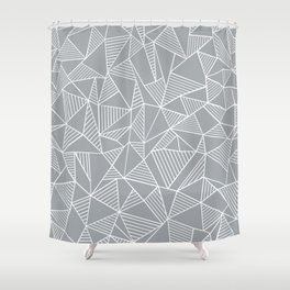 Abstraction Lines Grey Shower Curtain