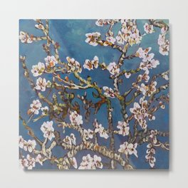 Vincent van Gogh Pink Blossoming Almond Tree (Almond Blossoms) Metal Print