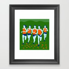 Stars of Track and Field are Beautiful People Framed Art Print