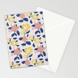 Pink Flower pattern Stationery Cards
