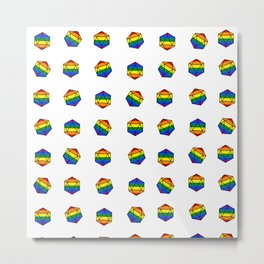Roll For Gay Metal Print