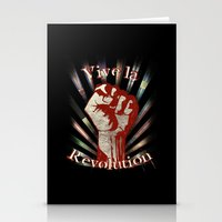 revolution Stationery Cards featuring Revolution by PsychoBudgie