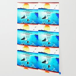 Love Yourself First Inspirational Quote With Underwater Scene Painting Wallpaper