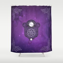 Elegant decorative celtic knot Shower Curtain