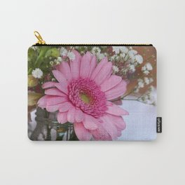 Pink flower in shabby chic vase Carry-All Pouch