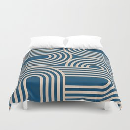Abstraction_WAVE_GRAPHIC_VISUAL_ART_Minimalism_001 Duvet Cover