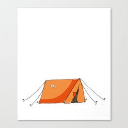 Spend a Night Outdoors Camping Hiking Canvas Print