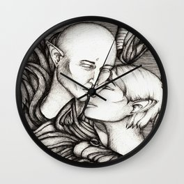Wolf and Hart Wall Clock