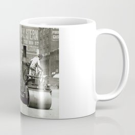 Street Workers Using a Steam Roller Coffee Mug