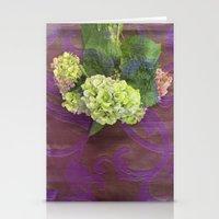hydrangea Stationery Cards featuring hydrangea by Federico Faggion