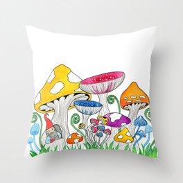 Gnome Village Throw Pillow
