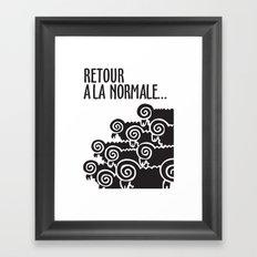 Retour à la normale Framed Art Print