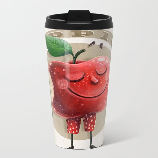 Apple Metal Travel Mug