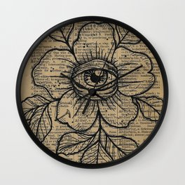 Flower with Eye: Beauty is in the Eye... Wall Clock