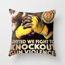 United We Fight to Knockout Gun Violence Throw Pillow