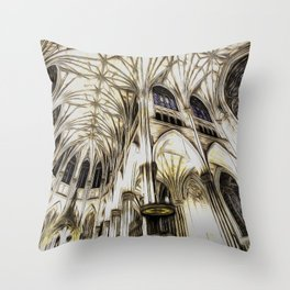 Cathedral Architecture Art Throw Pillow