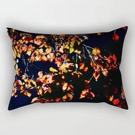 Red Leaves Rectangular Pillow